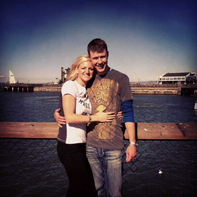 And and I at Fisherman's Wharf