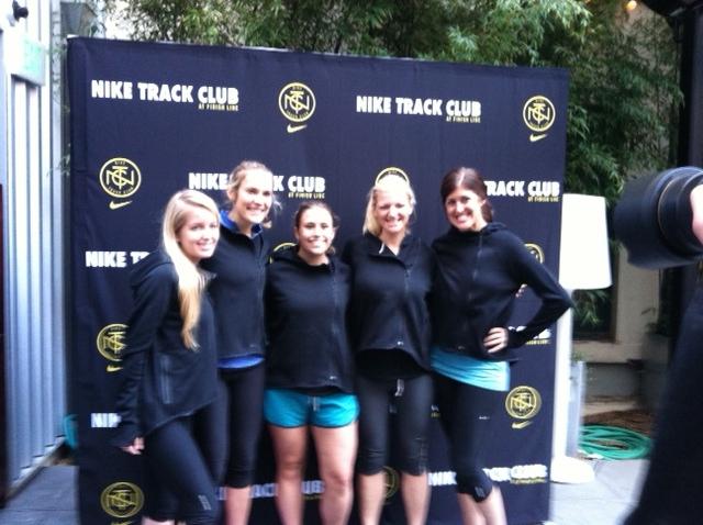 Nike and FL Ladies rockin' our new Tech Fleece Hoodies.
