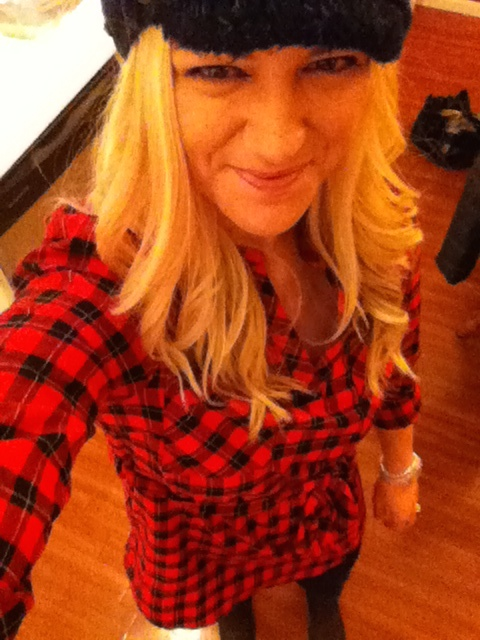 Plaid tunic that I can actually wear with leggings because it covers my butt!