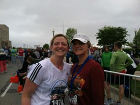 Us at the Carmel Marathon 2012...I wish I had some better running related pics of us!!!