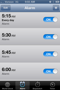Doesn't everyone set 4 alarms? No? Just me?