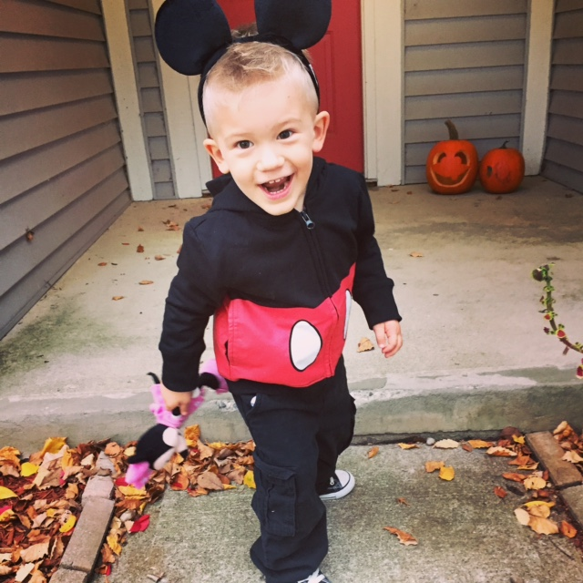 Mickey Mouse getting ready for candy!